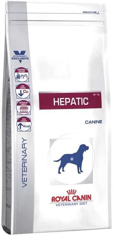 Royal Canin Hepatik HF16 1кг. Корм сухой для собак