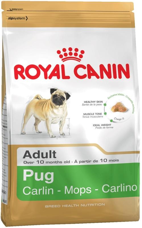 Royal Canin 500гр. Корм сухой для собак породы мопс