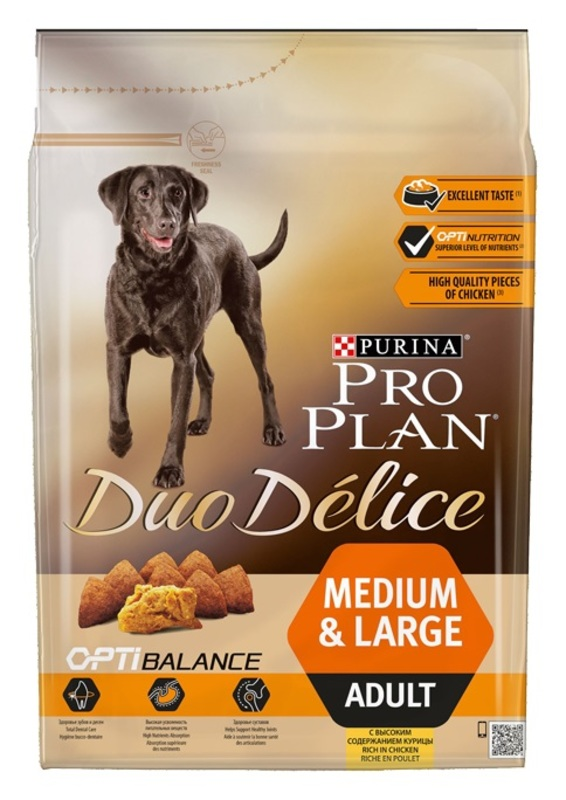 ProPlan Duo Delice 700гр. Корм сухой  для собак, курица