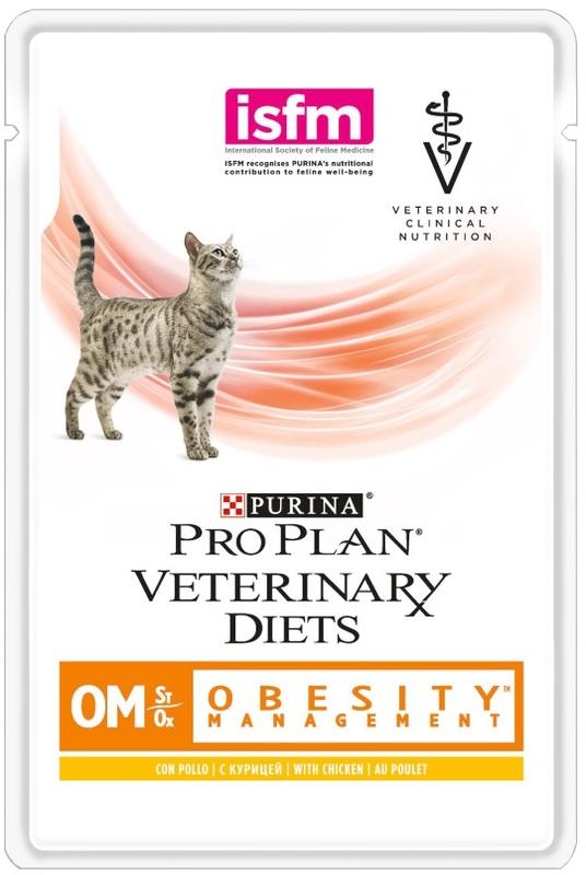 Pro Plan 85гр. ОМ пауч для кошек при ожирении