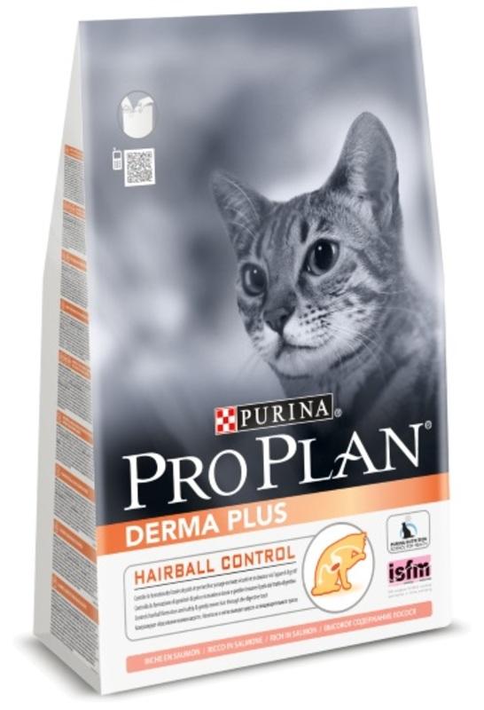 Pro Plan Derma Plus 400гр. Корм сухой для взрослых кошек, лосось