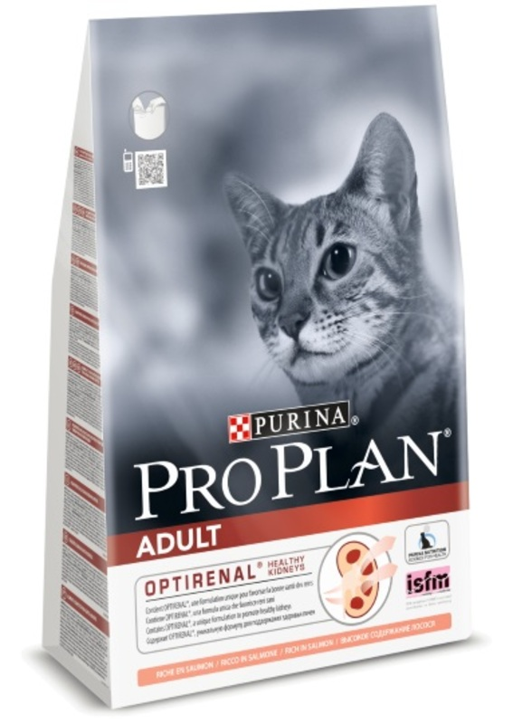Pro Plan Adult 400гр. Корм сухой для кошек, лосось