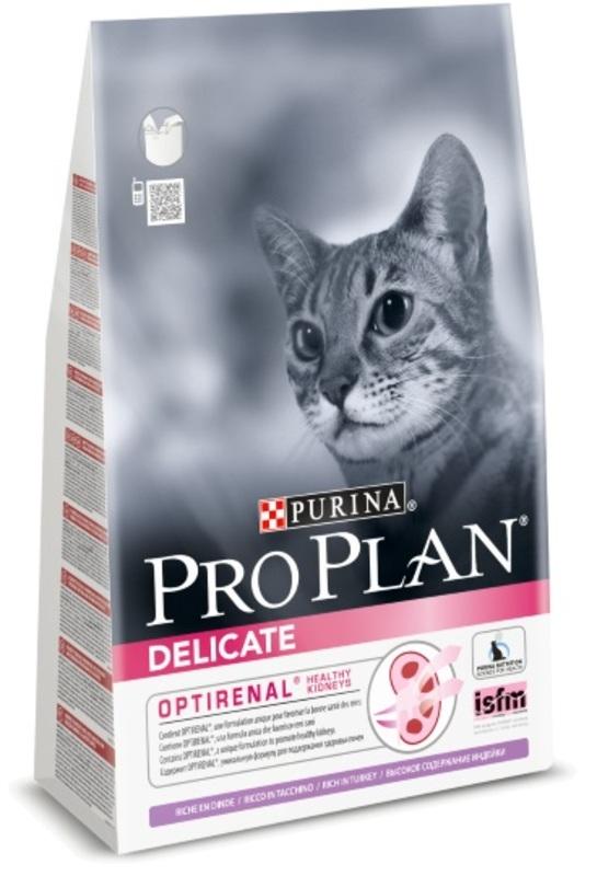 Pro Plan Delicate 400гр. Корм сухой для кошек , индейка