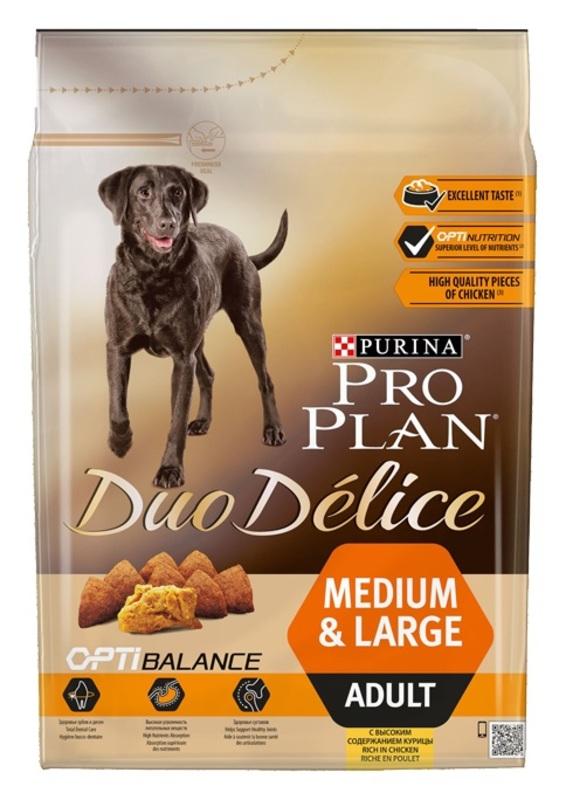 ProPlan Duo Delice 2кг. Корм сухой  для собак, курица