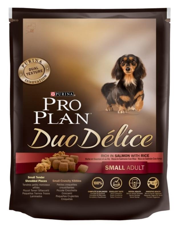 ProPlan Duo Delice 700гр. Корм сухой  для собак  мелких пород, лосось