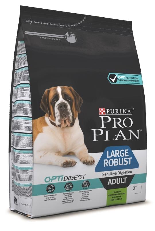 Pro Plan 3кг. Корм сухой для взрослых собак крупных пород, ягненок