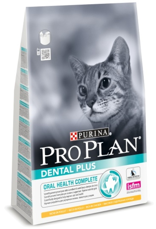 Pro Plan Dental Plus 1,5кг. Корм сухой для кошек, курица