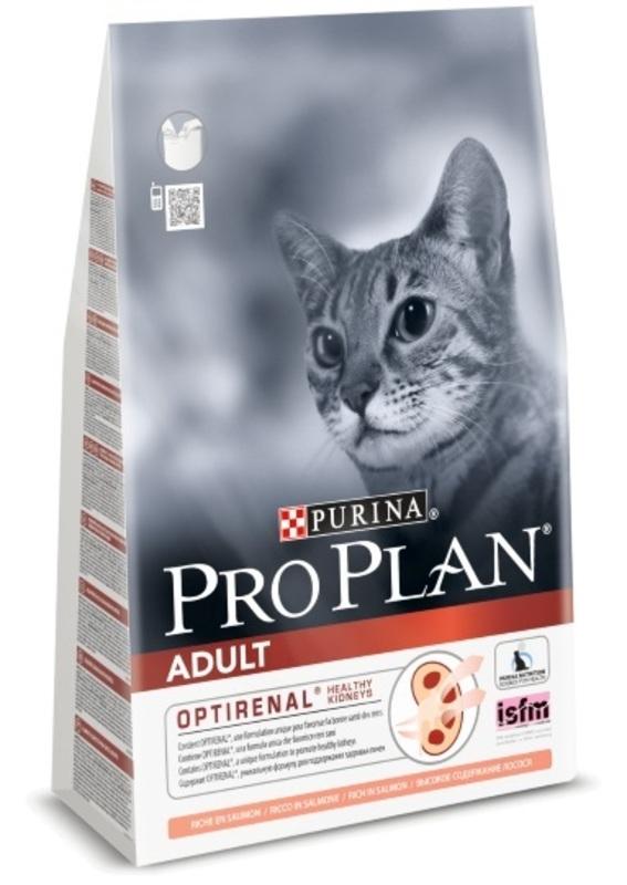 Pro Plan Adult 3кг. Корм сухой для кошек, лосось