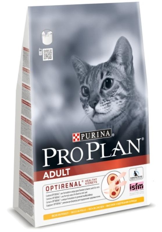 Pro Plan Adult 3кг. Корм сухой для кошек, курица
