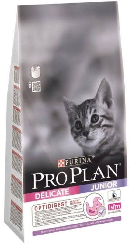 Pro Plan Delicate 3кг. Корм сухой для котят, индейка