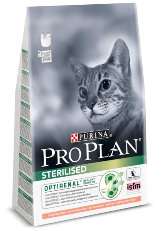 Pro Plan Sterilised 3кг. Корм сухой для кошек, лосось