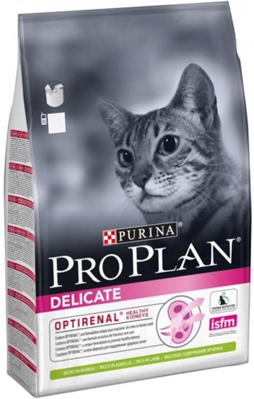 Pro Plan Delicate 400гр. Корм сухой для кошек, ягненок